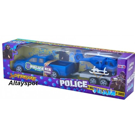 Toptan Oyuncak Polis Helikopterli Team