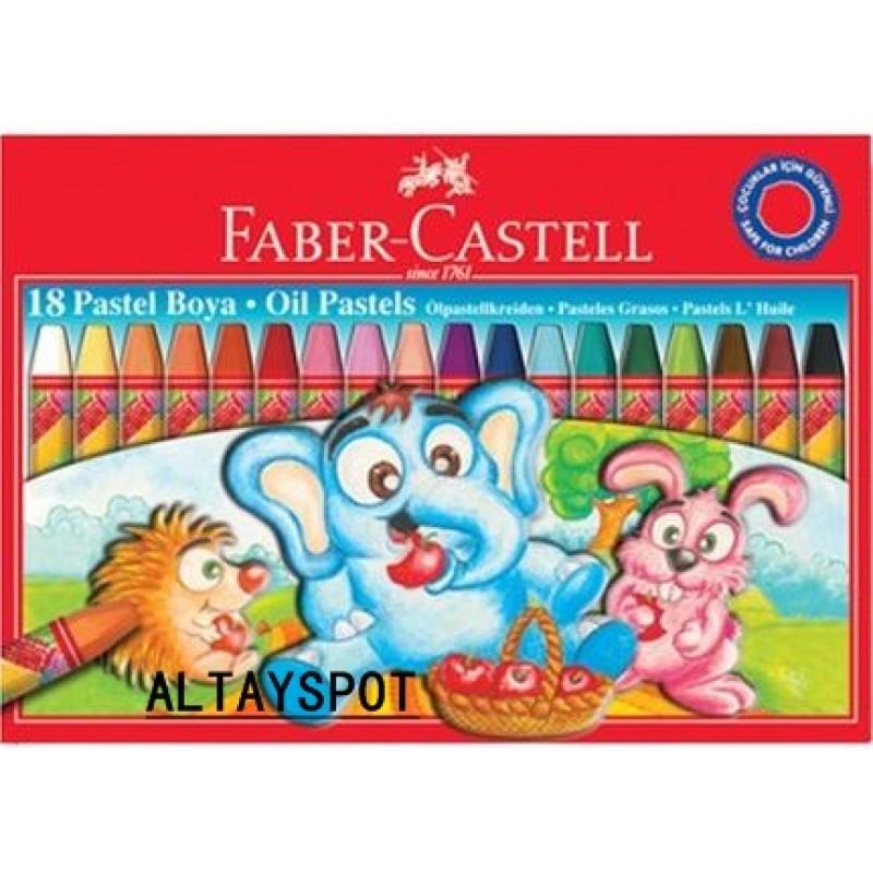 Toptan Faber Castell Karton Kutu Pastel Boya 18 Renk