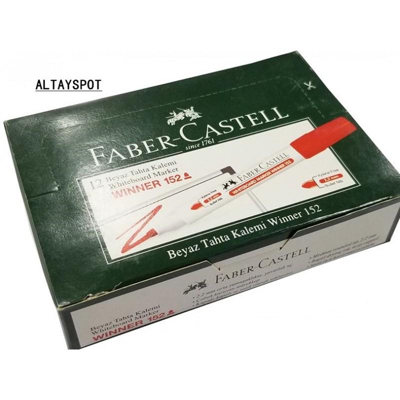 Toptan Faber Castell Beyaz Tahta Kalemi Kırmızı Yazılı