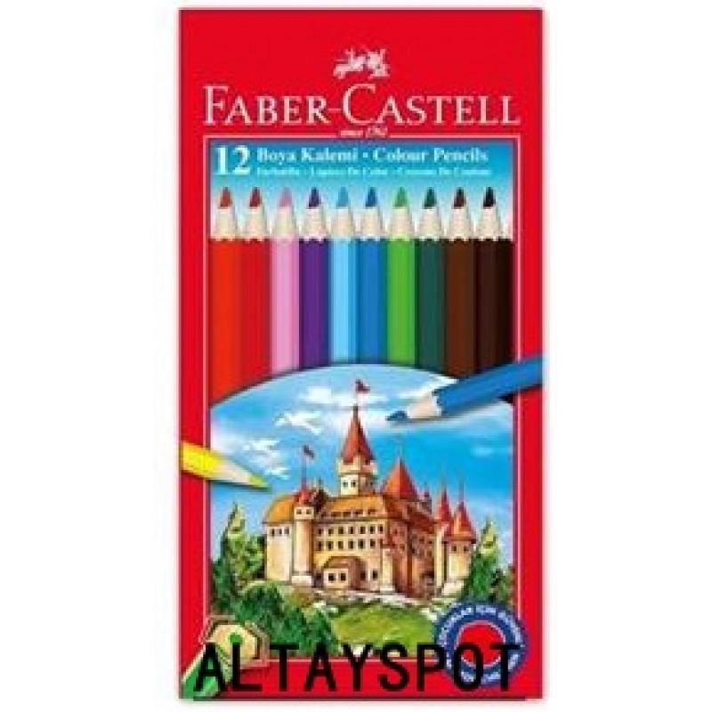 Toptan Faber Castell 12 Li Tam Boy Kuru Boya