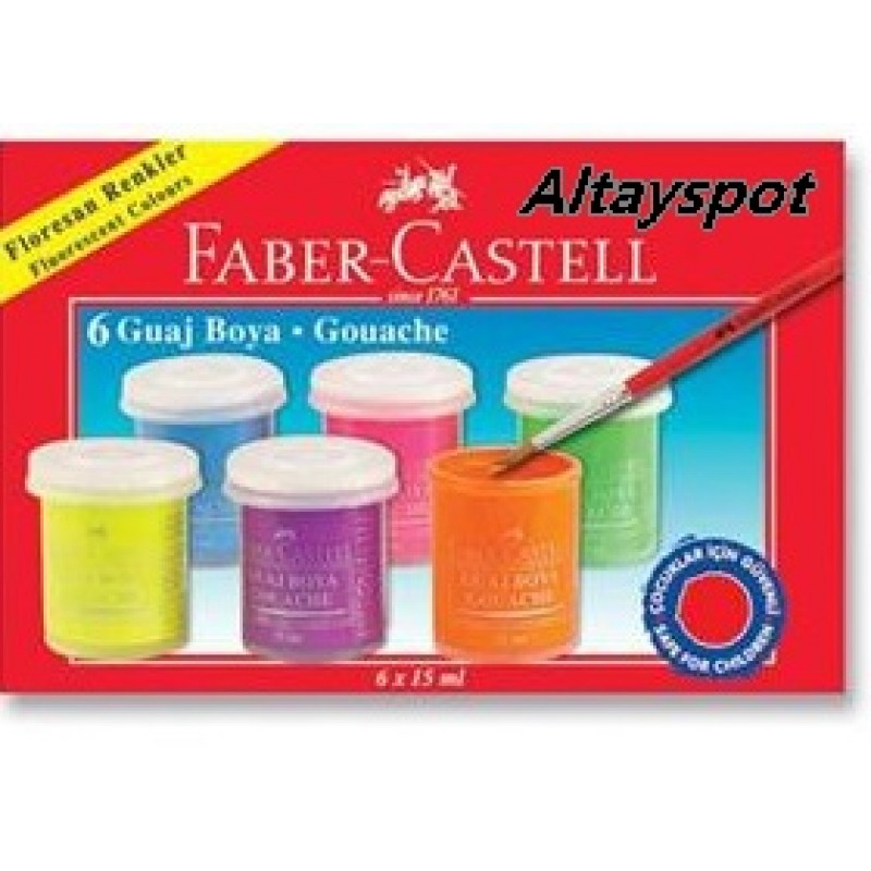 Toptan Faber Castell 6 Lı Guaj Boya