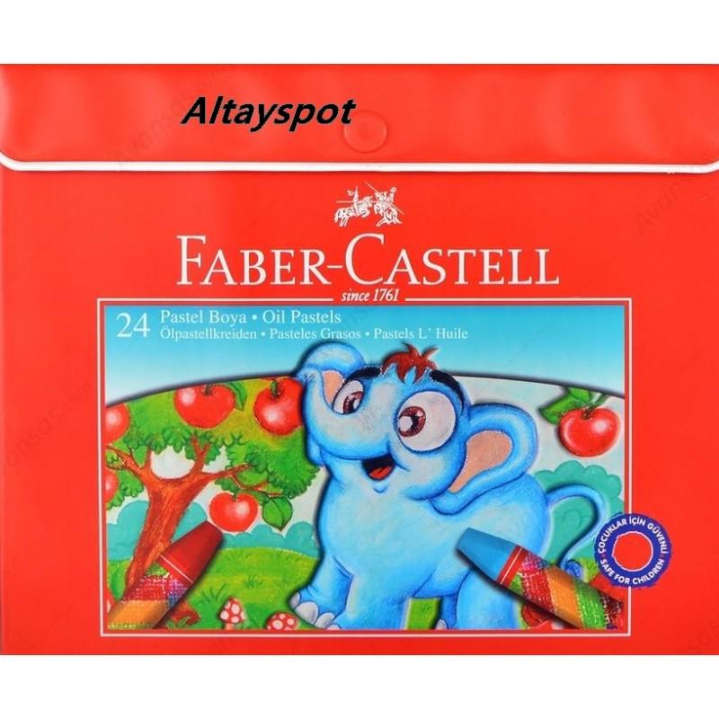 Toptan Faber Castell 24 Lü Çantalı Pastel Boya