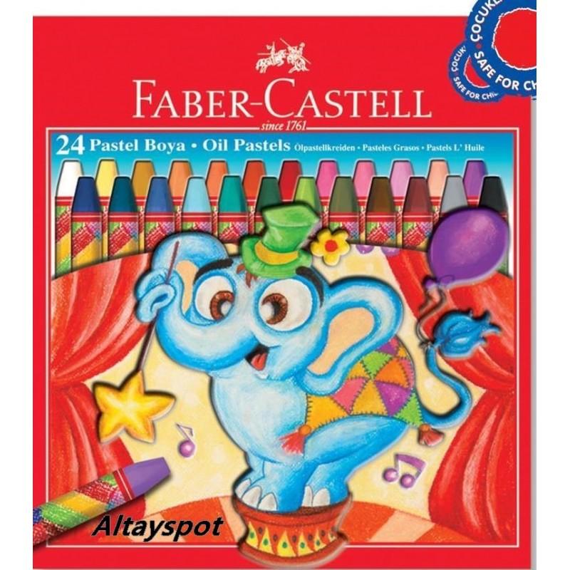 Toptan Faber Castell Pastel Boya Karton Kutu 24 Renk