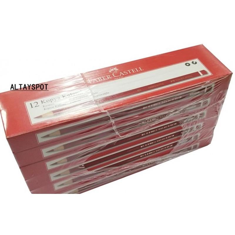 Toptan Faber Castell Kırmızı Kopya Kalemi 144 Adet