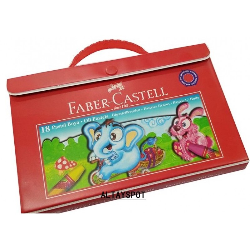 Toptan Faber Castell 18 Li Çantalı Pastel Boya