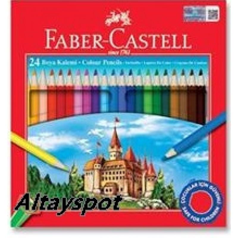 Toptan Faber Castell 24 Lü Kuru Boya