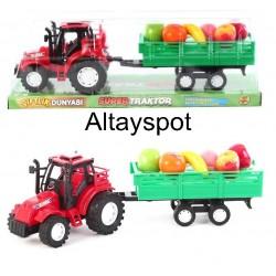 Toptan Oyuncak Meyveli Traktör Seti