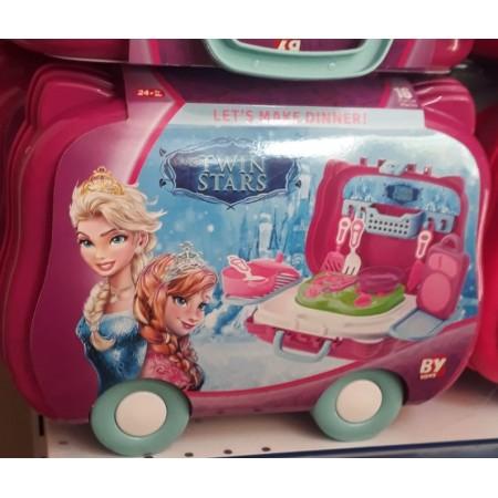 Toptan Arabalı Mutfak Seti Frozen Ve Annalı