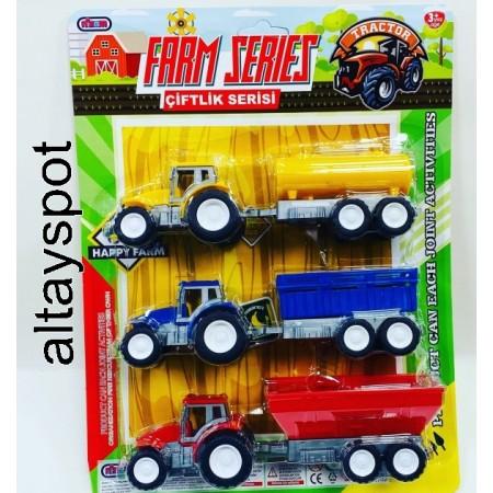 Toptan 3 Lü Traktör Oyuncak Karteleda