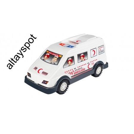 Toptan Plastik Ambulans Araba Oyuncak