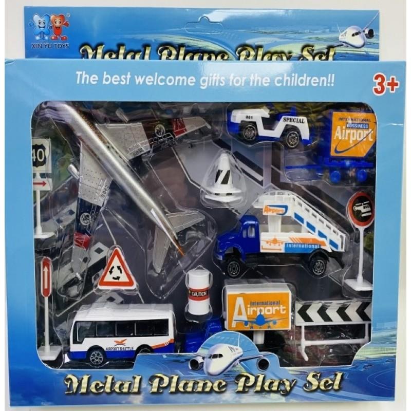 Toptan Oyuncak Havaalanı Set Metal