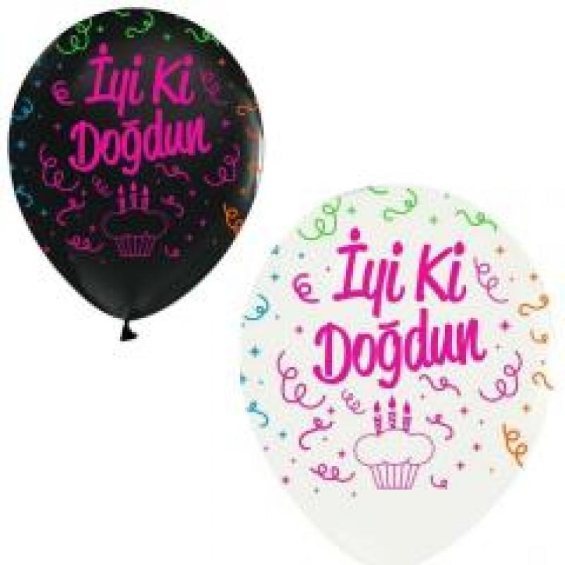 Toptan Çepeçevre İyiki Doğdun Balon