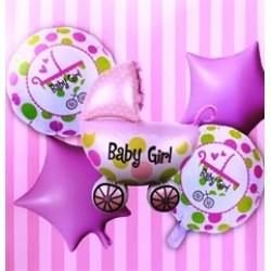 Toptan 45 Cm 75 Cm Baby Girl Set Pembe Folyo