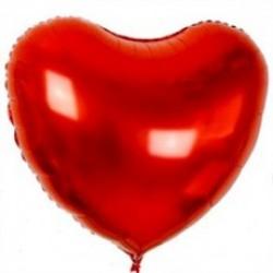 Toptan 90 Cm Folyo Kalp Kırmızı Balon