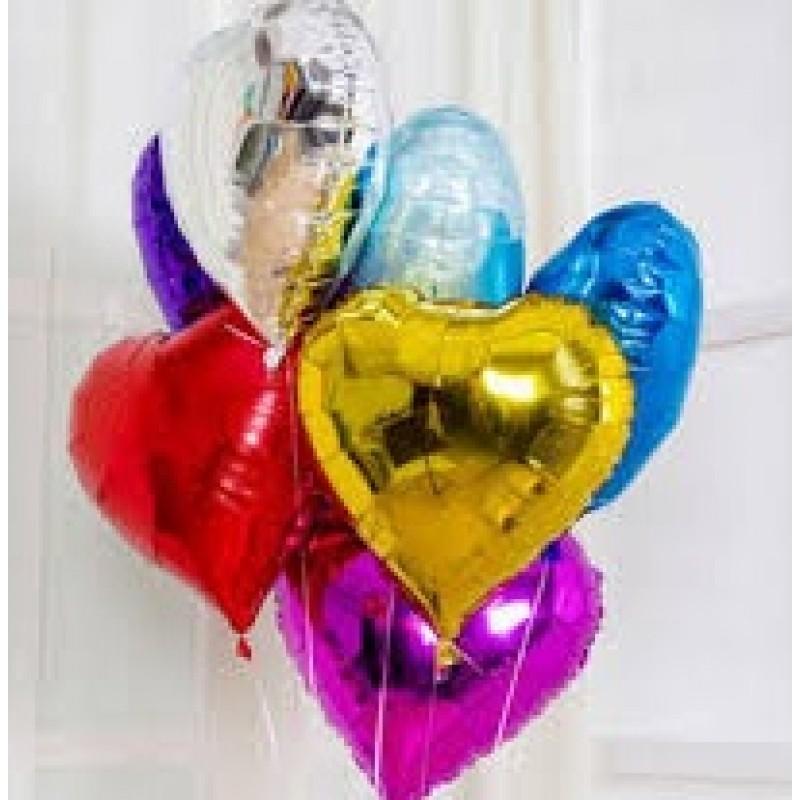 Toptan 45 Cm Folyo Kalp Balon